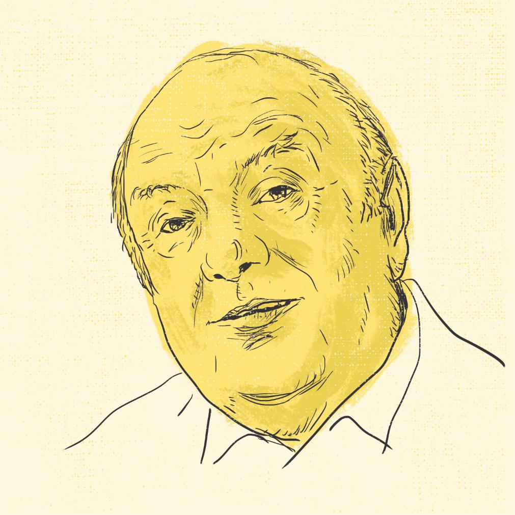Der Schriftsteller Otfried Preußler, gemalt von Marcus Langer