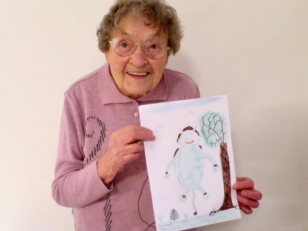 Oma Erna mit Sebastian Ziebes Bild