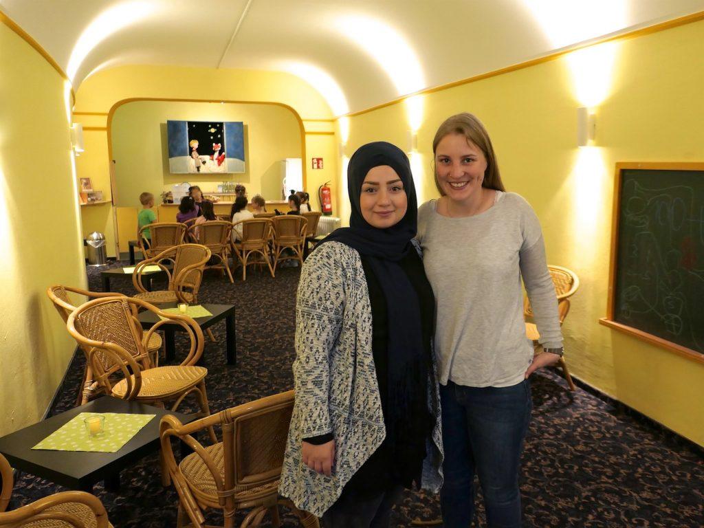 Im Skala-Haus: Die Erzieherinnen Sümeyya Atmaca und Jannice Paul