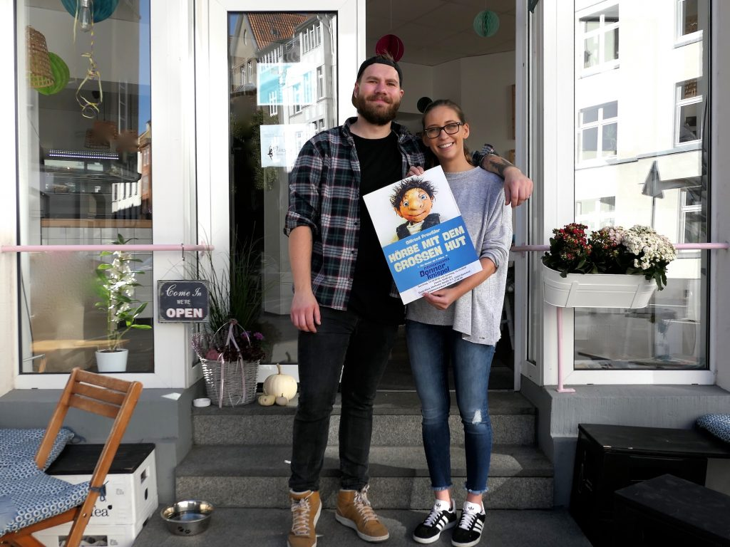 Lena Semmler und Christian Schiemann vom Café Kleines Glück